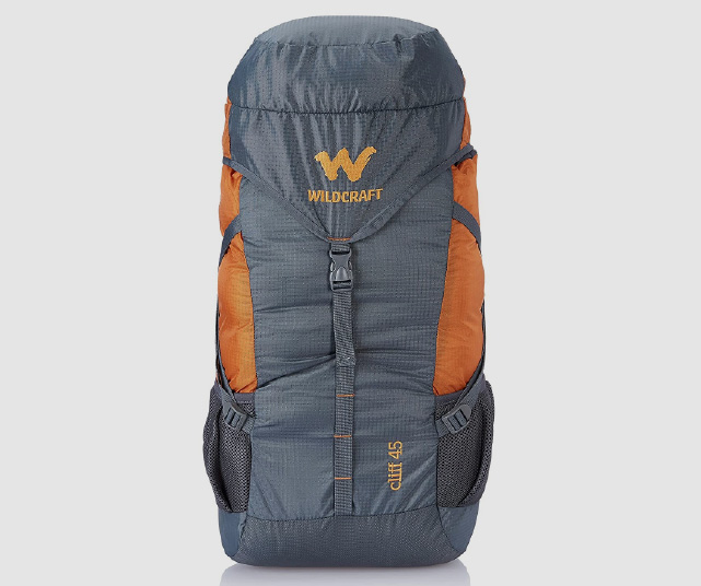 wildcraft 45 ltrs grey and orange rucksack review